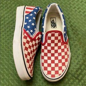 Patriotic Slip on Stars and Stripes Pack Vans